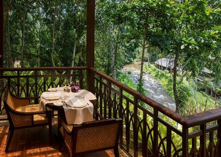 Kubu and Sawah Terrace restaurant in Ubud