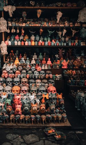 Souvenirs made by the local artists at Ubud-Bali