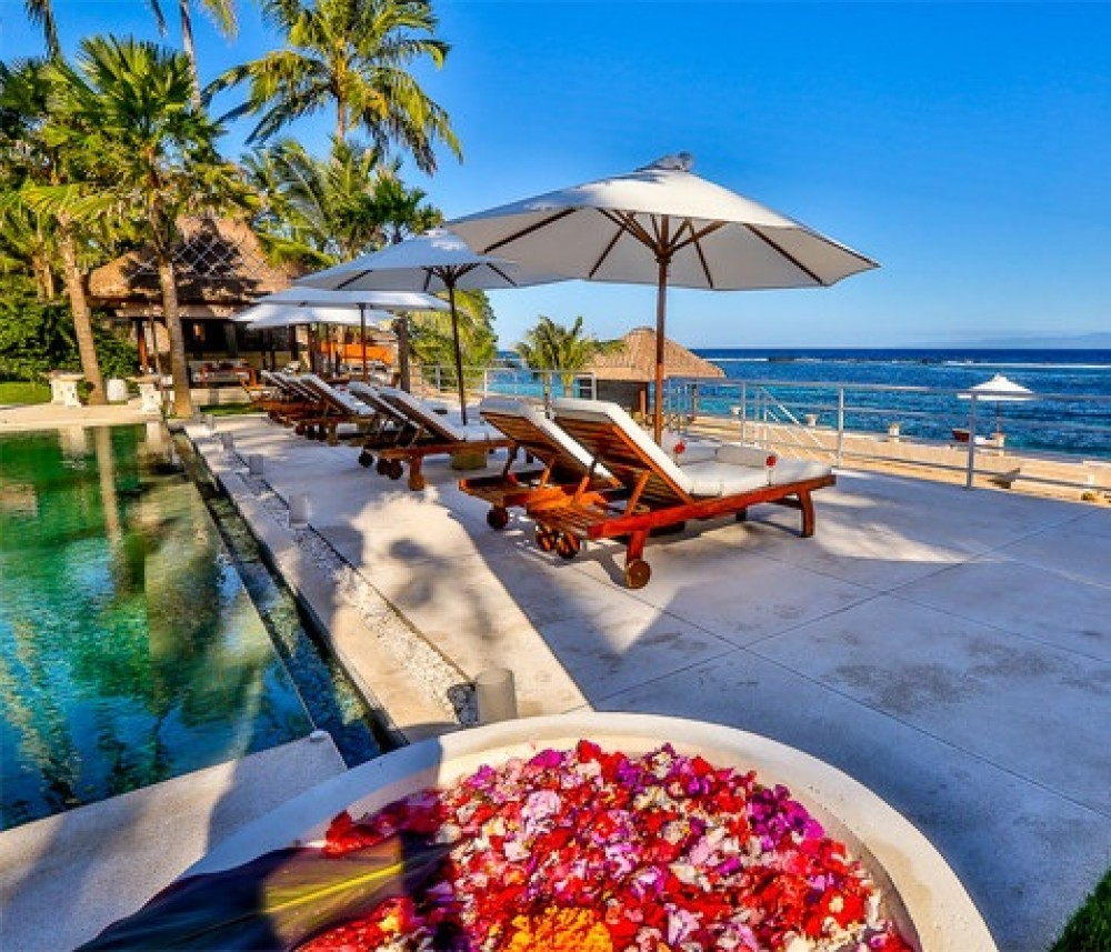 Bali Property For Sale Beachfront with a lazy chair to enjoy the scenery