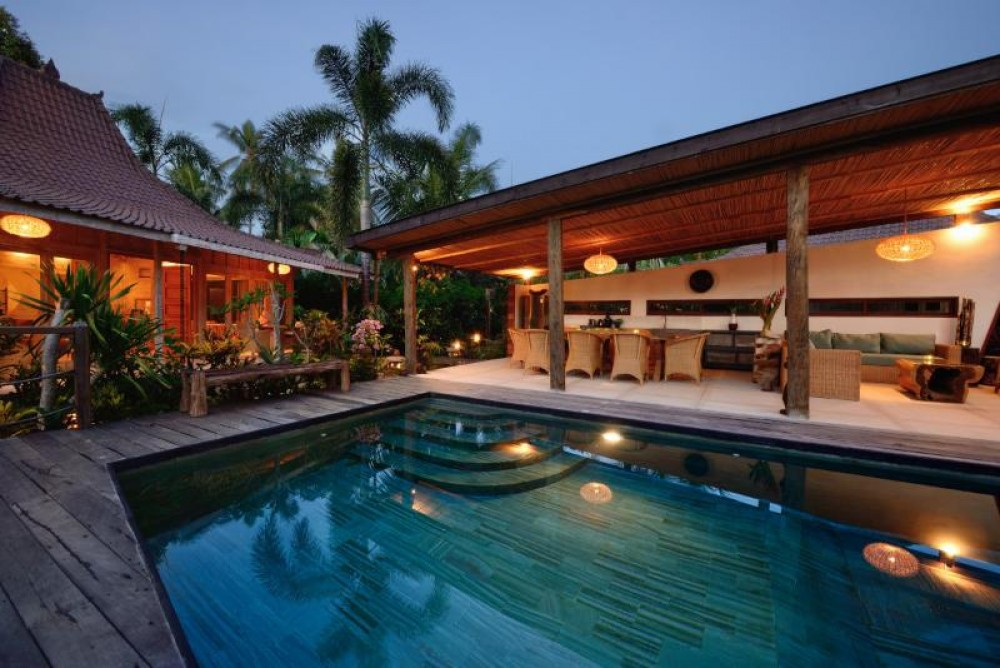 Ubud private villa pool and 3 cozy bedrooms